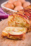 Bell pepper and olive loaf. Stock Photography
