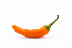 Bell pepper. Orange Bell pepper isolated fropm white background Royalty Free Stock Photo