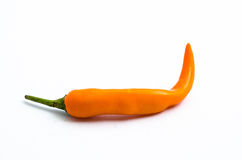 Bell pepper. Orange Bell pepper isolated fropm white background Royalty Free Stock Photos