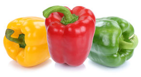 Bell pepper peppers paprika paprikas colorful vegetable food iso Stock Images