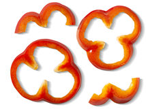 Bell pepper pieces Stock Images