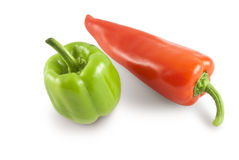Bell pepper & red pepper with path Stock Image
