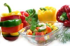 Bell pepper salad Stock Photos