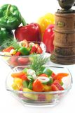 Bell pepper salad Royalty Free Stock Photos
