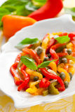 Bell pepper salad Stock Images