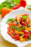 Bell pepper salad Stock Image
