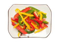 Bell pepper salad Stock Photos