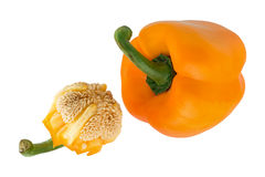Bell pepper and seeds Stock Image