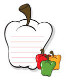 A bell pepper shaped stationery Stock Images
