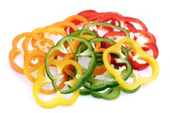 Bell pepper slices stock image