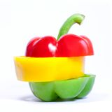 Bell pepper slices Royalty Free Stock Photography
