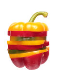 Bell pepper slices stack Stock Photo