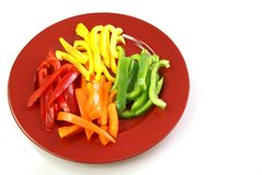 Bell Pepper Strips Royalty Free Stock Photo