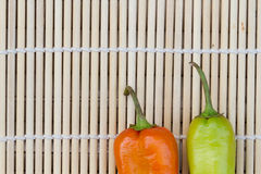 Bell pepper or sweet pepper. On makisu Royalty Free Stock Photos