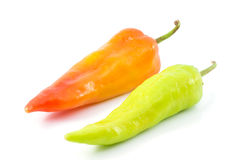 Bell pepper or sweet pepper. On white back ground Royalty Free Stock Images