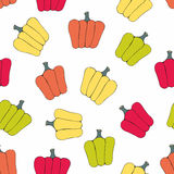 Bell pepper. Vector seamless pattern Stock Photos