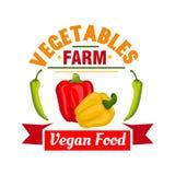 Bell pepper vegetable symbol for farming design Stock Image