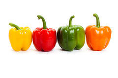 Bell Pepper. With white background stock photos