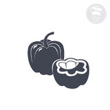 Bell pepper. On a white background shows an icon indicating bell pepper Stock Images