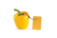 Bell Pepper With Price Tag Royalty Free Stock Photo