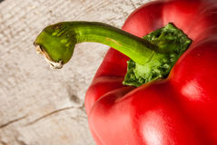 Bell Pepper on wood Royalty Free Stock Photos