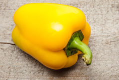 Bell Pepper on wood. Yellow Bell Pepper on wood Stock Photography
