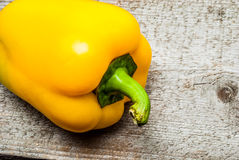 Bell Pepper on wood Stock Photography