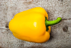Bell Pepper on wood Royalty Free Stock Photography