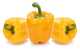 Bell pepper yellow peppers paprika paprikas vegetable food isola Royalty Free Stock Images