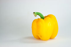 Bell pepper. Yellow bell pepper in white background Royalty Free Stock Photos