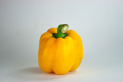 Bell pepper. Yellow bell pepper in white background Royalty Free Stock Image