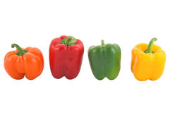 Bell Peppers. Isolated on white Royalty Free Stock Photos