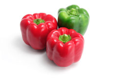 Bell Peppers. On White Background Royalty Free Stock Image