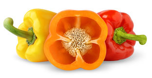 Bell peppers of different colors royalty free stock image