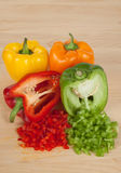 Bell Peppers. Chopped or Diced Bell Peppers Stock Image