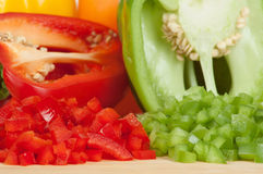 Bell Peppers 4. Chopped or Diced Bell Peppers Stock Photography