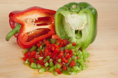 Bell Peppers 5. Chopped or Diced Bell Peppers Royalty Free Stock Photos