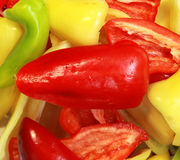 Bell peppers background Stock Photos