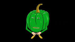 1 Bell Peppers Cartoon-Transparent-Silent Intro stock video