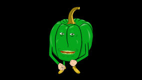1 Bell Peppers Cartoon-Transparent-Speaks Intro stock video footage