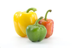 Bell Peppers. Color Bell Peppers on white background Royalty Free Stock Images