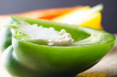 Bell Peppers Cut in Half Stock Photos