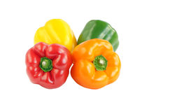 Bell peppers in different colour. Royalty Free Stock Photos