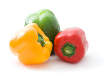 Bell peppers isolated Stock Photography