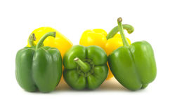 Bell peppers isolated close up Royalty Free Stock Photo
