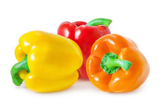 Bell peppers. Isolated on white Stock Images