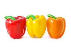 Bell peppers. Isolated on white Stock Photo
