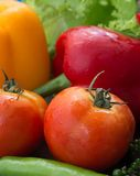 Bell Peppers Represents Fresh Food And Tomato Royalty Free Stock Image