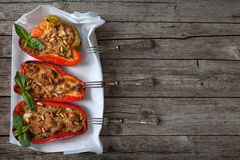 Bell Peppers Stuffed Stock Image
