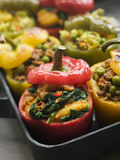 Bell Peppers stuffed with Keema Sag Aloo Royalty Free Stock Image